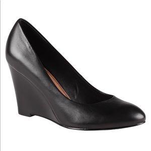 Aldo Black Leather Wedge Shoes Saegifu 8